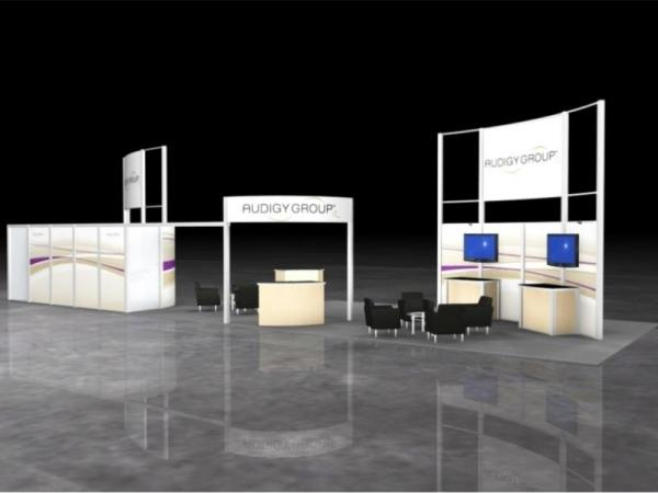 RE-9038 Rental Exhibit / 20� x 60� Island Trade Show Display � Image 3