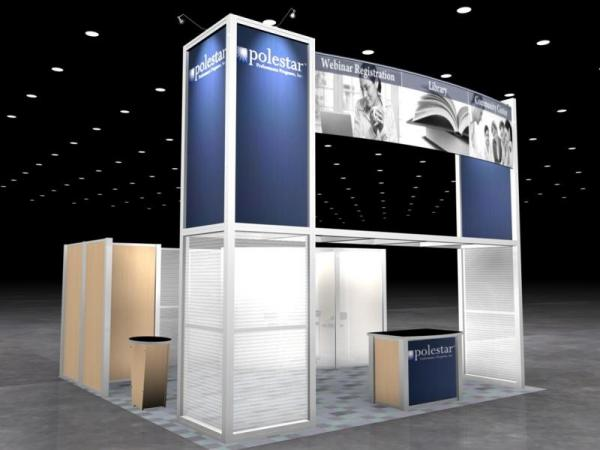 RE-9026 Rental Exhibit / 20� x 20� Island Trade Show Display � Image 1