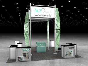 RE-9052 Rental Exhibit / 20� x 20� Island Trade Show Display � Image 2