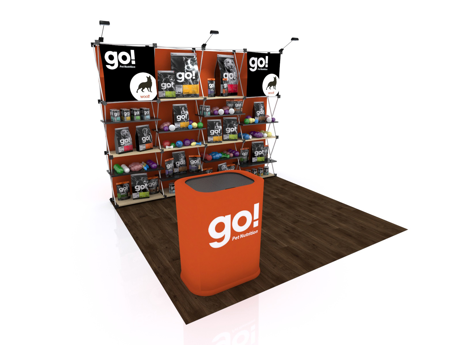 FG-125 Trade Show Pop Up Display -- Version 2b