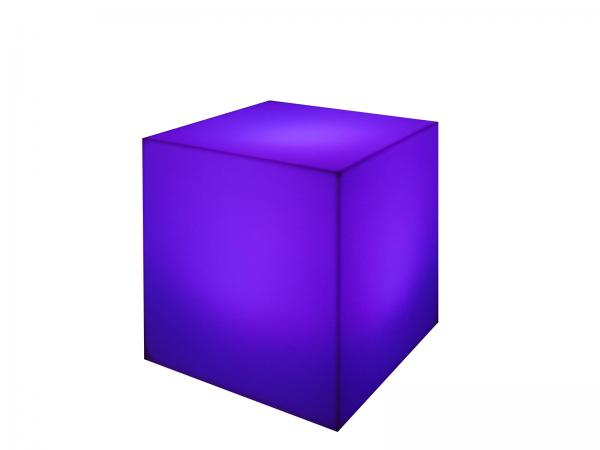 Purple | LED Cube Ottoman -- Trade Show Furniture Rental