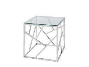 Alondra End Table w/ Glass Top -- Trade Show Rental