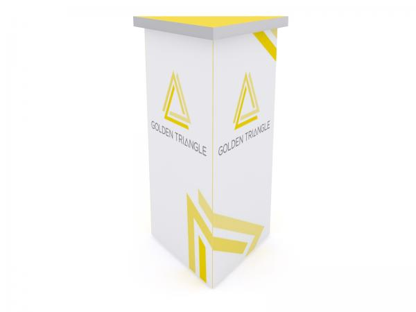 DI-638 Trade Show Pedestal -- Folding Fabric Panels -- Full Graphic (velcro-attached)