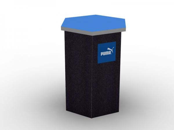 DI-650 Trade Show Pedestal -- Fabric Folding Panel Design -- Image 3