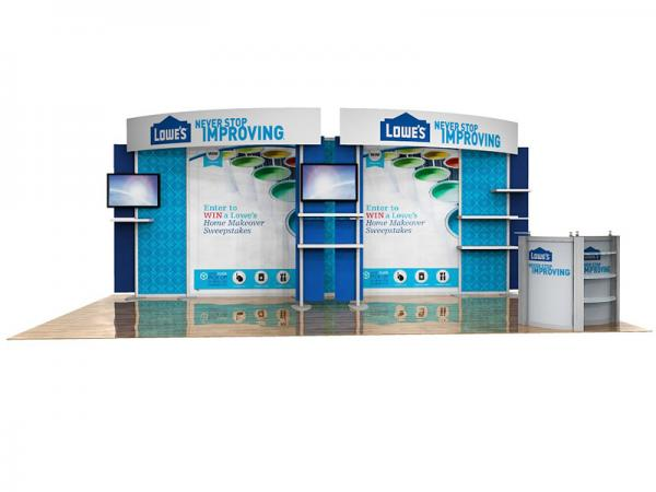 ECO-2056 10' x 20' Sustainable Hybrid Display -- Image 1