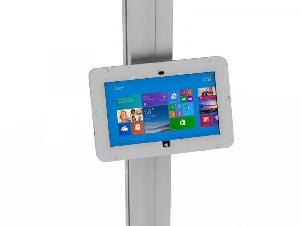 MOD-1317M Locking Surface 2 Enclosure with Extrusion Attachment -- Silver