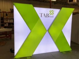 Custom Layered LED Lightbox with Tension Fabric Graphics
