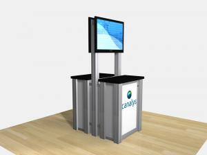 RE3D-1256 / Double-Sided Counter Kiosk