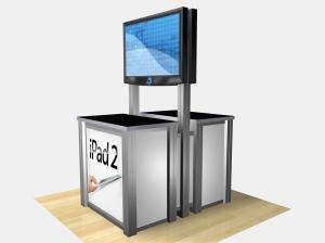 RE3D-1233  /  Double-Sided Rectangular Counter Kiosk